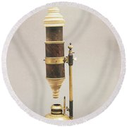 18th Century Microscope Round Beach Towel by Tomsich