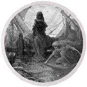 Coleridge: Ancient Mariner Round Beach Towel