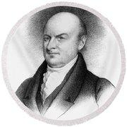 John Quincy Adams Round Beach Towel