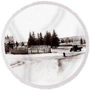 1900 Farm Round Beach Towel