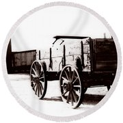 1900 Wagon Round Beach Towel