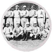 1902 Philadelphia Athletics Round Beach Towel