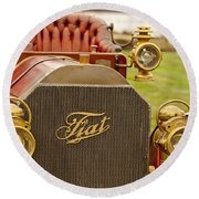 1905 Fiat 60hp Quimby Touring Round Beach Towel