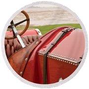 1911 Fiat S61 Steering Wheel Round Beach Towel