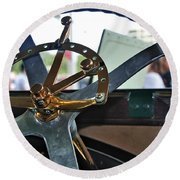 1913 Chalmers - Steering Wheel Round Beach Towel