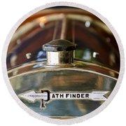 1913 Pathfinder 5-passenger Touring Hood Ornament Round Beach Towel