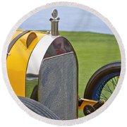 1914 Mercer Model 45 Race Car Grille Round Beach Towel