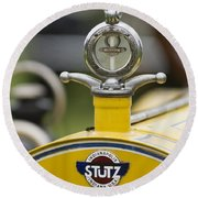 1914 Stutz Series E Bearcat Hood Ornament Round Beach Towel