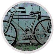 1918 Harley Davidson Bicycle Round Beach Towel