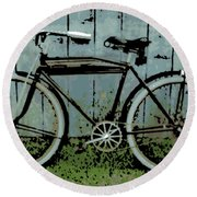 1919 Indian Bike Round Beach Towel