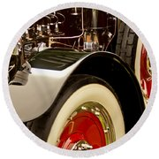 1919 Mcfarlan Type 125 Touring Engine Round Beach Towel