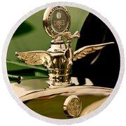 1919 Mcfarlan Type 125 Touring Motometer - Hood Ornament Round Beach Towel
