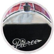 1919 Pierce-arrow Model 48 Dual Valve Roadster Grille Emblem Round Beach Towel