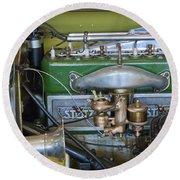1919 Stutz Bearcat Special Engine Round Beach Towel