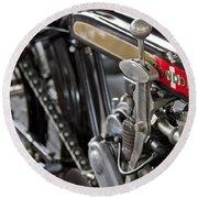 1923 Condor Motorcycle Round Beach Towel