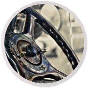 1924 Packard - Steering Wheel Round Beach Towel