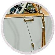 1925 Rolls-royce Phantom I Barker Sports Torpedo Tourer Steering Wheel Round Beach Towel