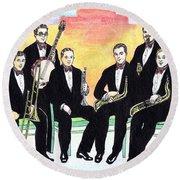 1927 New Yorkers Jazz Band Round Beach Towel
