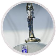 1928 Isotta Fraschini Tipo 8as Landaulet Hood Ornament Round Beach Towel