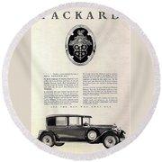 1928 Packard Round Beach Towel