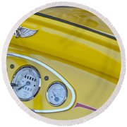 1929 Ford Model A Roadster Dashboard Instruments Round Beach Towel