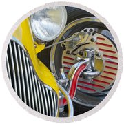 1929 Ford Model A Roadster Wheel Round Beach Towel