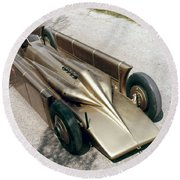 1929 Golden Arrow Round Beach Towel