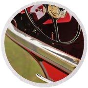 1929 Graham-paige Model 837 Lebaron Sport Phaeton Steering Wheel Round Beach Towel