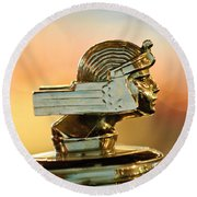 1929 Stutz Series M Four-passenger Dual-cowl Speedster Hood Ornament  Round Beach Towel