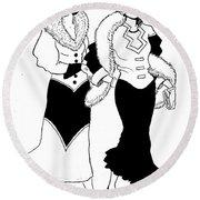 1930s Deco Ladies Round Beach Towel