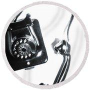 1930s Telephone Round Beach Towel