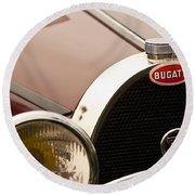 1931 Bugatti Type 55 Roadster Grille Emblem Round Beach Towel