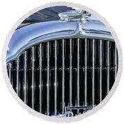 1932 Buick Series 60 Phaeton Grille Round Beach Towel