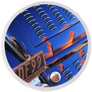 1932 Ford Taillight License Plate Round Beach Towel