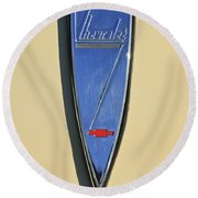 1933 Chevrolet Emblem Round Beach Towel