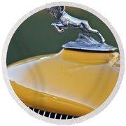 1933 Dodge Ram Hood Ornament Round Beach Towel