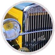 1933 Fiat Balilla Grille Round Beach Towel