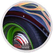 1933 Ford Wheel Round Beach Towel