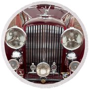 1934 Bentley 3.5-litre Drophead Coupe Grille Round Beach Towel