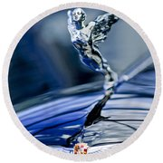 1934 Cadillac V-16 452 Two-passenger Stationary Coupe Hood Ornament And Emblem Round Beach Towel