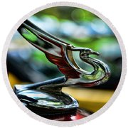 1934 Chevrolet Flying Eagle Hood Ornament - 2 Round Beach Towel