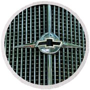 1934 Chevrolet Grill  Round Beach Towel by Paul Ward