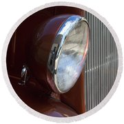 1934 Ford Headlight And Grill Round Beach Towel