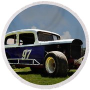 1934 Ford Stock Car Round Beach Towel