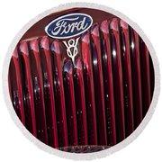 1934 Ford V8 Emblem 2 Round Beach Towel
