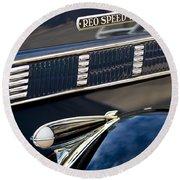 1935 Reo Speed Wagon 6ap Pickup  Round Beach Towel