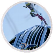 1936 Dodge Hood Ornament 2 Round Beach Towel