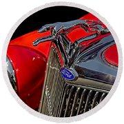 1936 Ford Model 48 Emblem Round Beach Towel