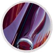 1936 Ford Phaeton Taillight Round Beach Towel