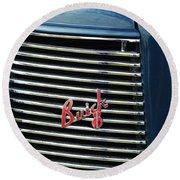 1937 Buick Grille Emblem Round Beach Towel